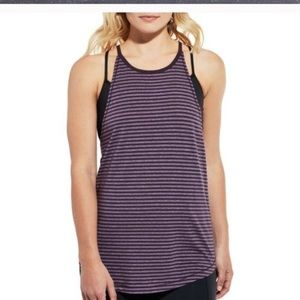 NWT Calia Carrie Underwood High Neck Striped Tank